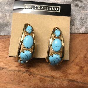 NWT R.J. Graziano turquoise earrings